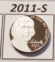 2011-s Deep Cameo Proof Untoned Jefferson Nickel - Superbly Struck PROOF... - $1.56