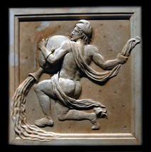 Aquarius Zodiac Wall Relief Sculpture Plaque (Jan 20 - Feb 18) - $68.31