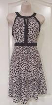 ELLE™ Hearts Black/Whtiel A-Line Dress - Women's Sz 2 or 8 NWT MSRP$54 V... - $26.45