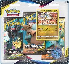 Pokemon TCG Team Up Blister Pack Ultra Necrozma Promo 3 Booster Packs - $18.95