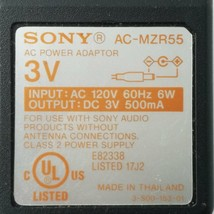 Sony AC-MZR55 AC Power Supply Adapter 3VDC 500mA - ₹1,729.97 INR