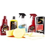 Auto Detail Supply Kit Car Care Bundle Car Wash Cleaner Wax Vehicle Inte... - $38.74