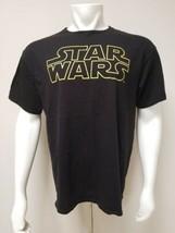 Star Wars Graphic T-Shirt Men XL Black with Yellow Print  - $24.49