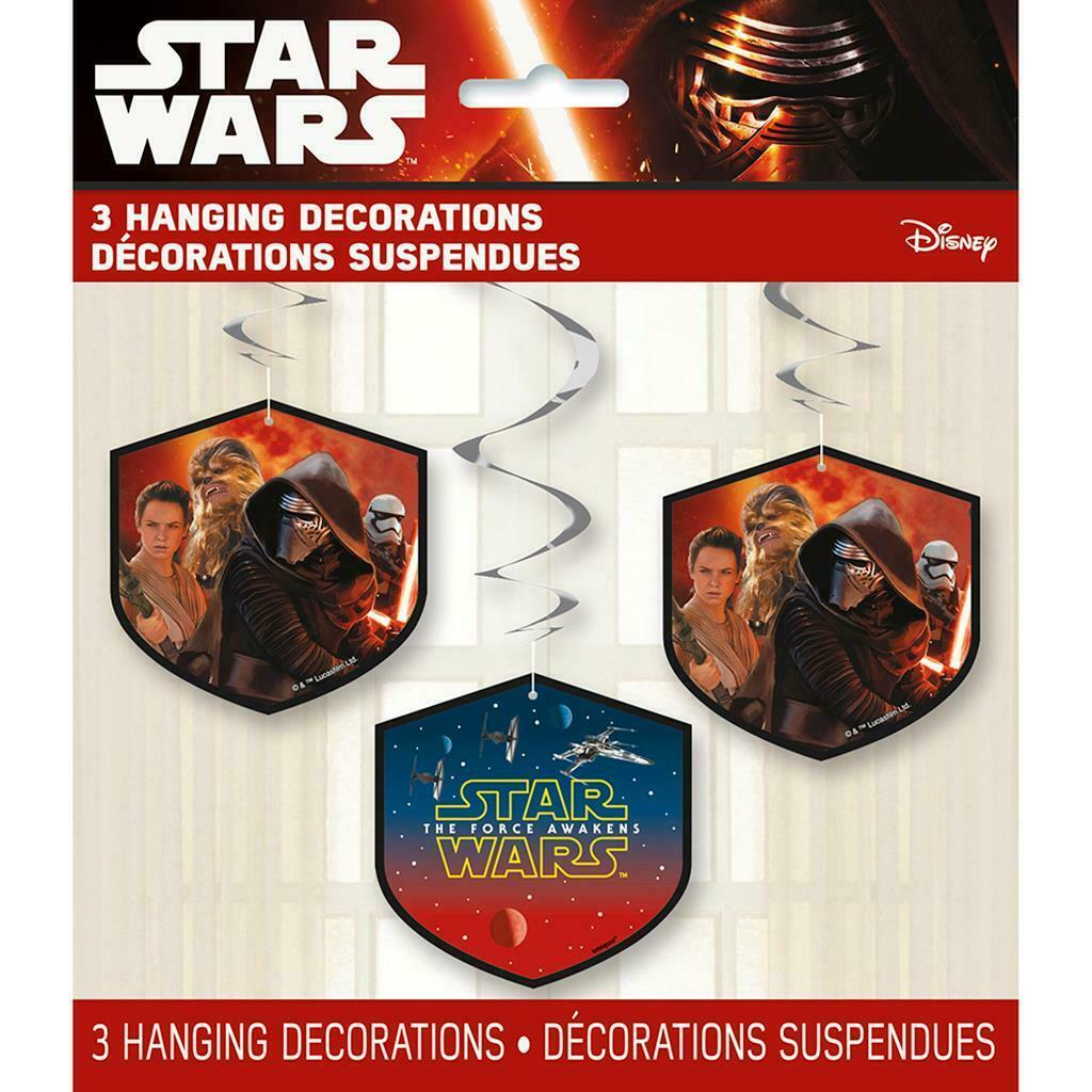 Star Wars Feel The Force Dangler Hanging Party Decorations 3 Per Package NEW - $2.92