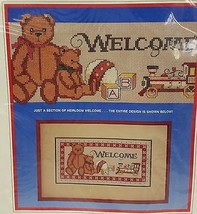 Dimensions Heirloom Welcome Counted Cross Stitch Christmas Wall Hanging ... - $19.79