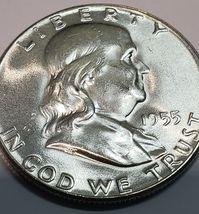 1955 Franklin Silver Half Dollar 50¢ Coin Lot A623 image 5