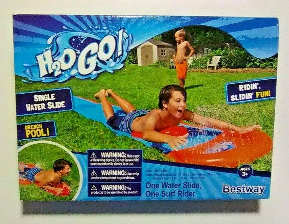 Double Water Slide with 2 Surf Riders Bestway H2O-Go