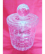 Towle 24% crystal biscuit cookie cracker candy jar made Poland & label - $22.72