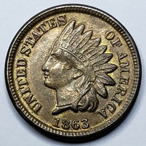 1863 Indian Head Cent Penny Coin Lot 519-89