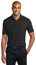 Port Authority TLK510 Tall Stain-Resistant Polo Shirt - Black - $17.98+