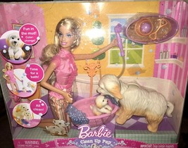 Barbie Clean Up Pup Doll Dog Puppy Blonde - $29.00