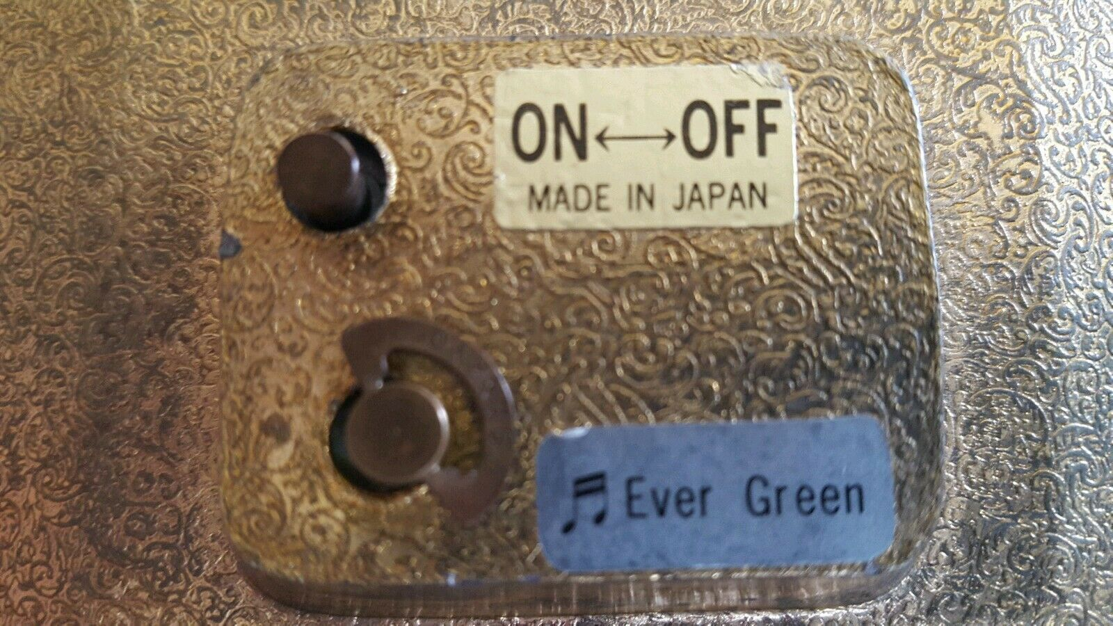 Vintage Sankyo Musical Picture Swans Japan Plays Ever Green