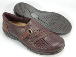 Earth Origins Glendale Gabrielle Sz 7 M EU 38 Women Leather Slip-On Shoes Merlot - $47.47