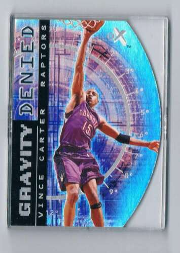 2000-01 E-X Gravity Denied #1 GD Vince Carter NM-MT