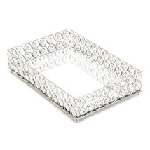 Decorative Tray Table, Shimmer Jewelry Modern Bedroom Crystal Decorative... - $40.59