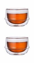 Double-Walled Kinto KRONOS Tea Glass -Temperature, Condensation Control ... - $33.65