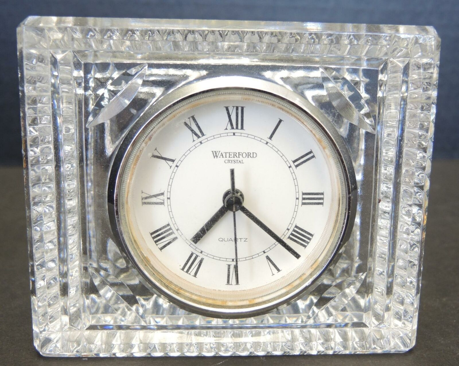 "Primary image for Waterford Crystal 4"" Tall Clock With Working Quartz Movement"