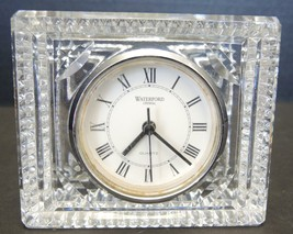"Waterford Crystal 4"" Tall Clock With Working Quartz Movement - $28.49"