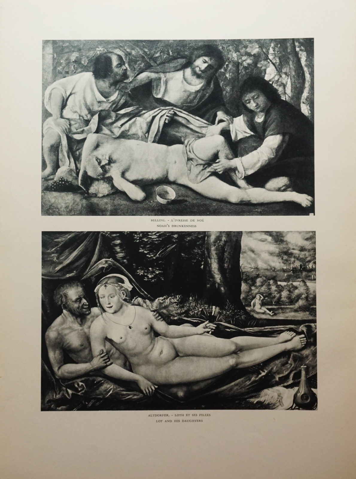 Primary image for  Noah's Drunkenness, Lot's Daughters,  Black and White, Verve Art, 1930s