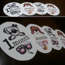 Monthly baby stickers puppies themed - $7.99