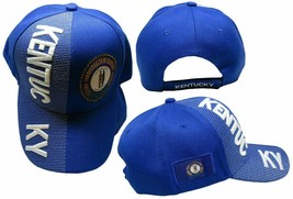 Kentucky State Hat Royal Blue White Letters Patch On Side Embroidered Cap - $21.76