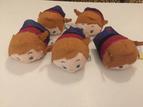"""Disney TSUM TSUM FROZEN 3.5"""" Mini Plush Anna Lot 5 ct"""