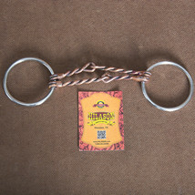 """5"""" Hilason Western Loose Ring Horse Bit W/ Double Twisted Copper Wire Mouth U-30 - $25.69"""