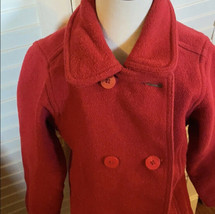 tommy hilfiger red wool coat S 6/7 girls - $11.88