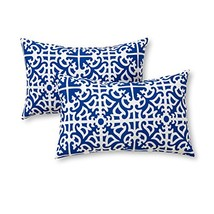 Greendale Home Fashions Rectangle Outdoor Accent Pillow set of 2, Indigo - $21.57
