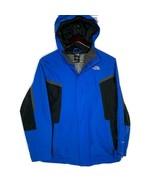 THE NORTH FACE Hyvent Blue Hooded Windbreaker Weatherproof Jacket Boys S... - $34.65