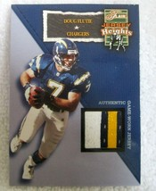 DOUG FLUTIE 2002 FLAIR JERSEY HEIGHTS 4-COLOR GAME USED PATCH-CHARGERS Q... - $29.69