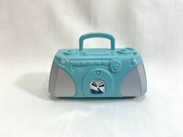 Dance 'n Flex Teresa Barbie Blue Boombox Stereo Radio CD Player Accessory - $9.89