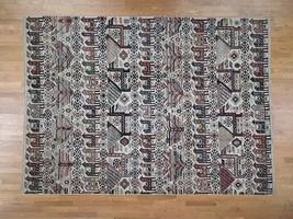 "9'2""x12'9"" Antiqued Caucasian Akstafa Design HandKnotted Pure Wool Rug G... - $1,744.45"