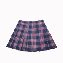 Purple Plaid Skirt Women Girls Plaid Pleated Mini Skirt Outfit Plus Size image 3
