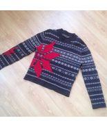 Original KENZO HOMME Lana Wool Sweater Jumper Unisex Size M Grey Red Ver... - $105.00