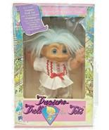 "Vintage 14"" Treasure Troll Tot Doll Ace Wishstone Blue Hair Lucky Charm ... - $39.59"