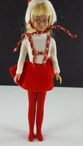 Skipper 1908 Skating Fun 1964 Red Velvet Skirt, Bodysuit, Hat, Original ... - $29.69
