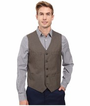Perry Ellis - Regular Fit Pattern Twill Suit Vest (Chinchilla) Men's Ves... - $14.99