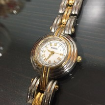Fossil Womens Watch Gold & Silver Stainless Steel Quartz Analog White Fa... - $7.43