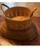 Longaberger Basket Hand Made In Ohio In 2003 Leather Handles - $25.51