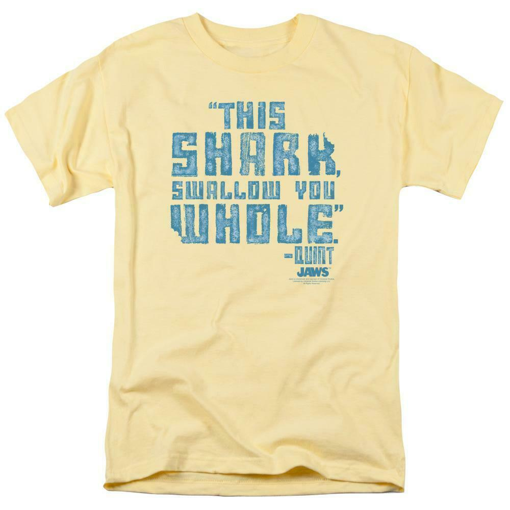 Jaws t-shirt This Shark Swallow You Whole-Quint retro 70s graphic tee UNI274