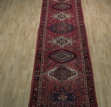 Red 3 x 13 All-Over Classic Tribal Design Runner Karaja Persian Handmade Rug image 9
