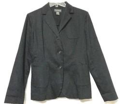 BANANA REPUBLC Women's Black Cotton Blend Stretch Blazer Size 4 - $7.12