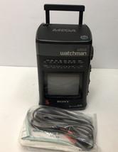 VTG Sony Mega Watchman FG 510 TV Black White FM AM Receiver Never Used - $39.60