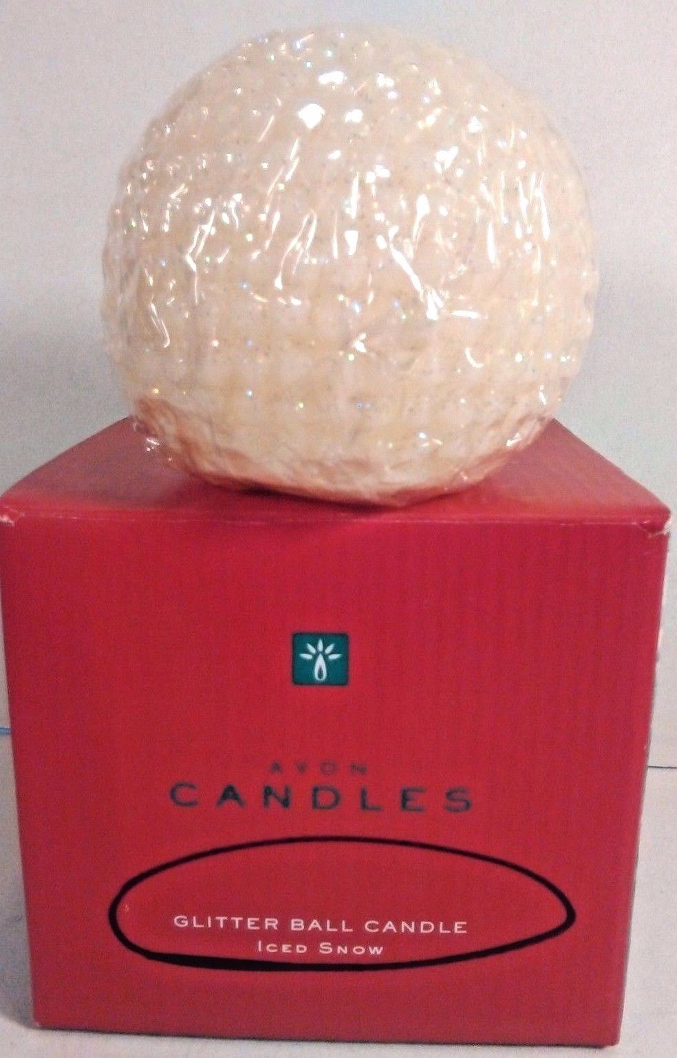 AVON GLITTER BALL SCENTED CANDLE NEW IN BOX