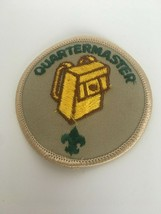 Quartermaster Position Patch Boy Scouts Tan Background Yellow Bag Round Vintage - $4.89