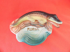Vintage Alligator Ashtray Ceramic Florida Kitschy Souvenir Japan G F - $18.59