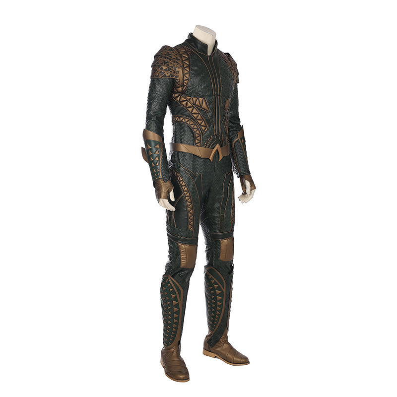 Justice League Arthur Curry Aquaman Cosplay Costume Halloween Jumpsuit Outfit