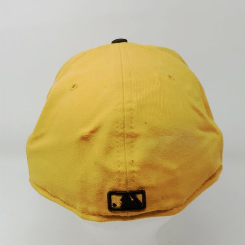 New Era 59Fifty San Diego Padres 7 5/8 Fitted USA Wool Hat Gold & Brown image 4