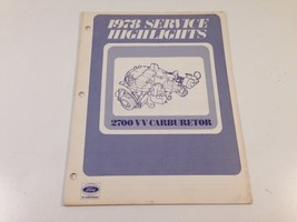 1978 Ford Service Highlights 2700 VV Carburetor 0328-125 - $12.99
